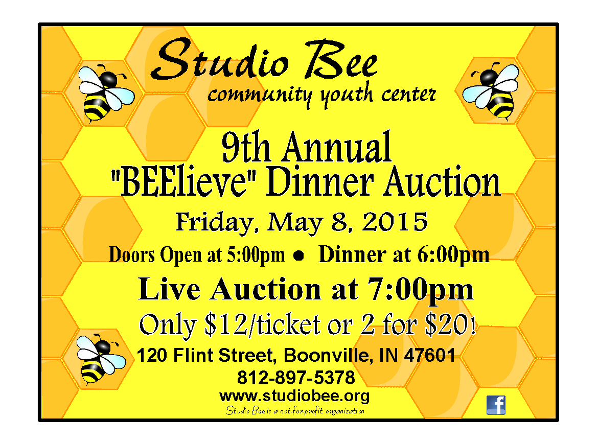 Studio Bee flyer 2015 auction